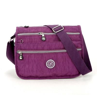 Lita Multi Compartment Handbag Purse Purple