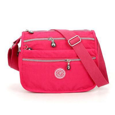 Lita Multi Compartment Handbag Purse Rose Red