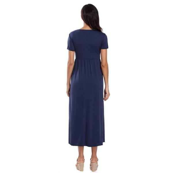Floral Fitted Maternity Dress Navy Back