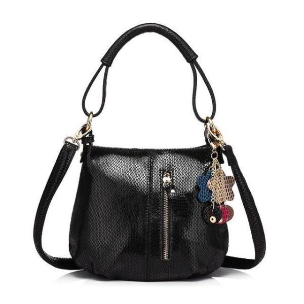 Sissy Leather Handbag Black