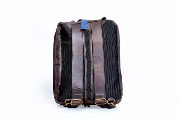 Leather Convertible Backpack Back
