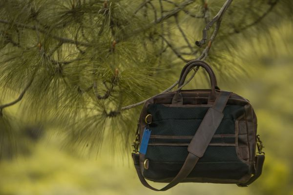 Leather Convertible Backpack Nature
