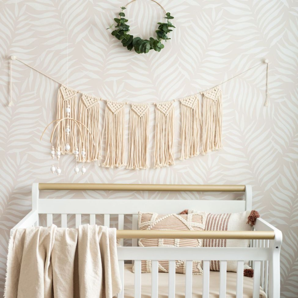 Baby Girl Nursery Wallpaper
