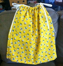 Pillowcase Dress 3T with shoe laces for ties