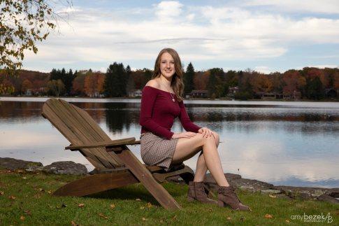 High School Senior Portraits, Penn Lake, White Haven, PA