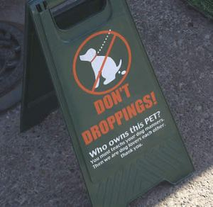 Don't droppings!