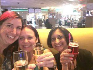 Champagne with Jeni and Shaila