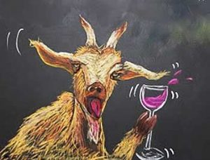 Party with the wine-soaked goat!