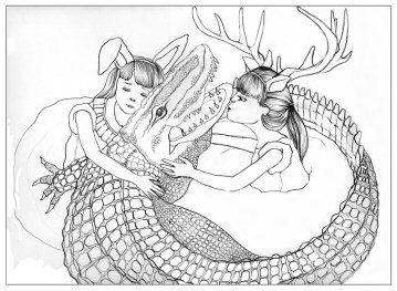 Alligator Girls Two 2009 - The Sketchbook Project, Laconia Gallery, Boston, MA