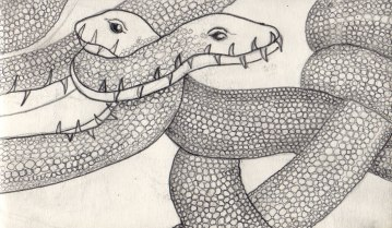 Snake Monsters Two 2009 - The Sketchbook Project, Antena Gallery, Chicago, IL