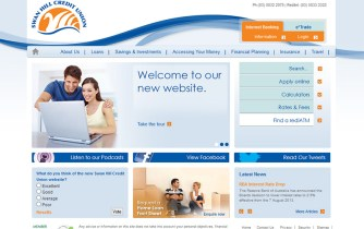 Swan Hill Credit Union - Website homepage