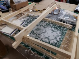 All the parts of the frames together ready to assemble.
