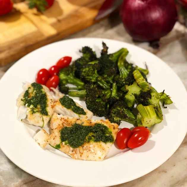 fish and vegetables are great for getting back to balanced