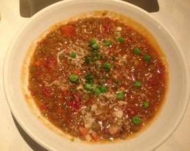 SNOB Tomato split pea soup