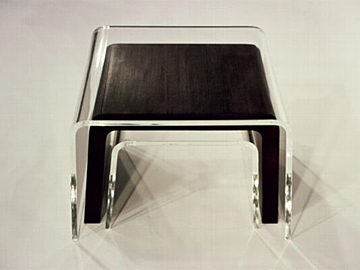 Acrylic and Wenge Nesting Tables by Amy Devers