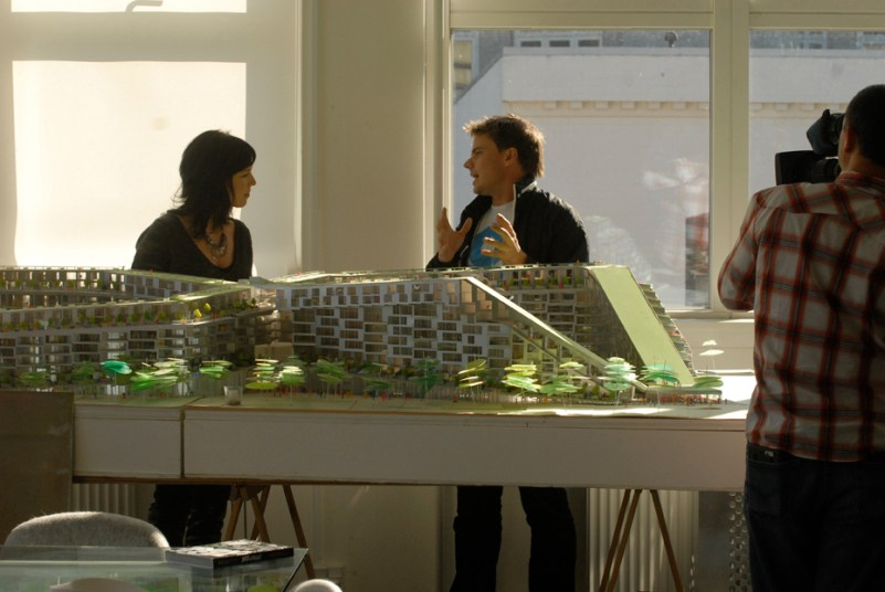 Amy Devers and Bjarke Ingels at BIG CPH