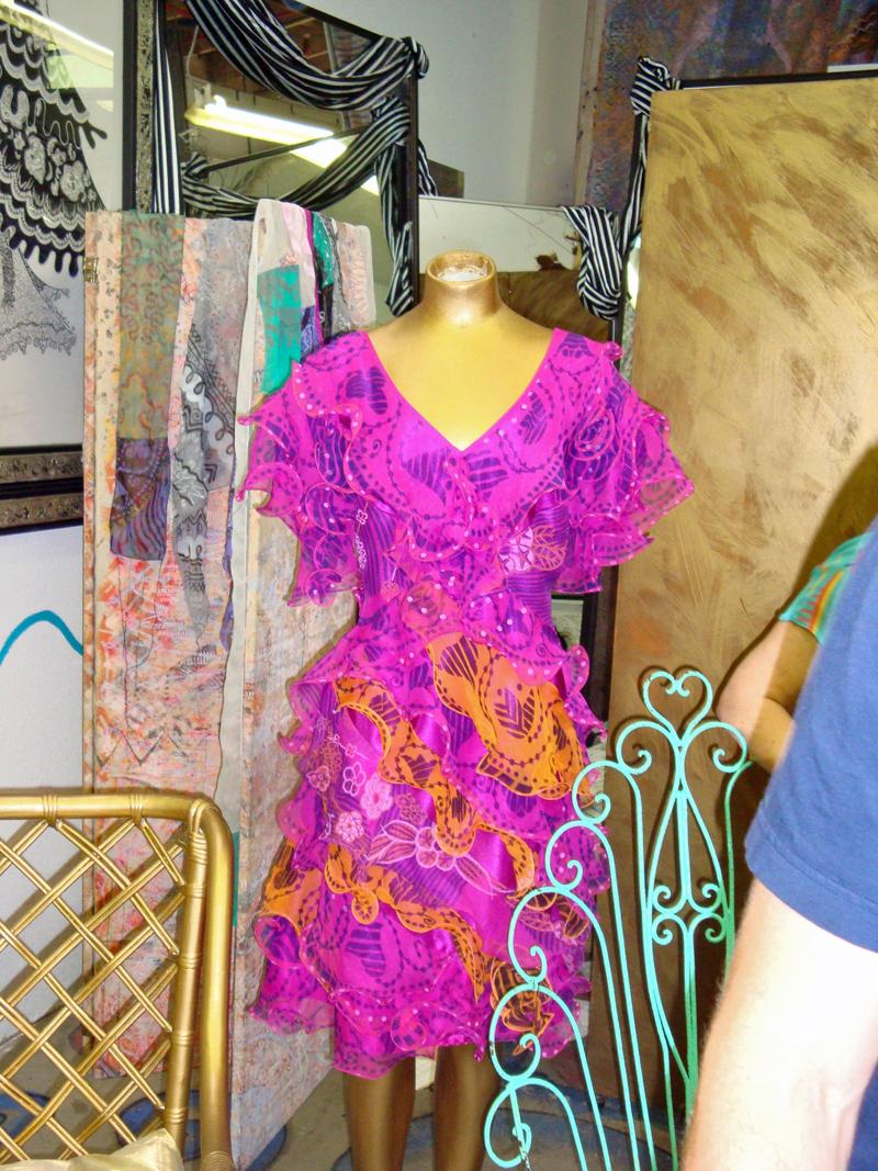 dress in Zandra Rhodes studio