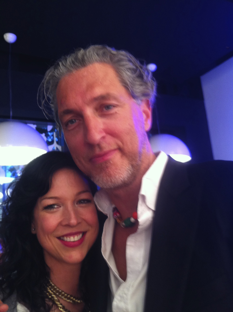 Amy Devers and Marcel Wanders at Flos during NYC Design Week 2011