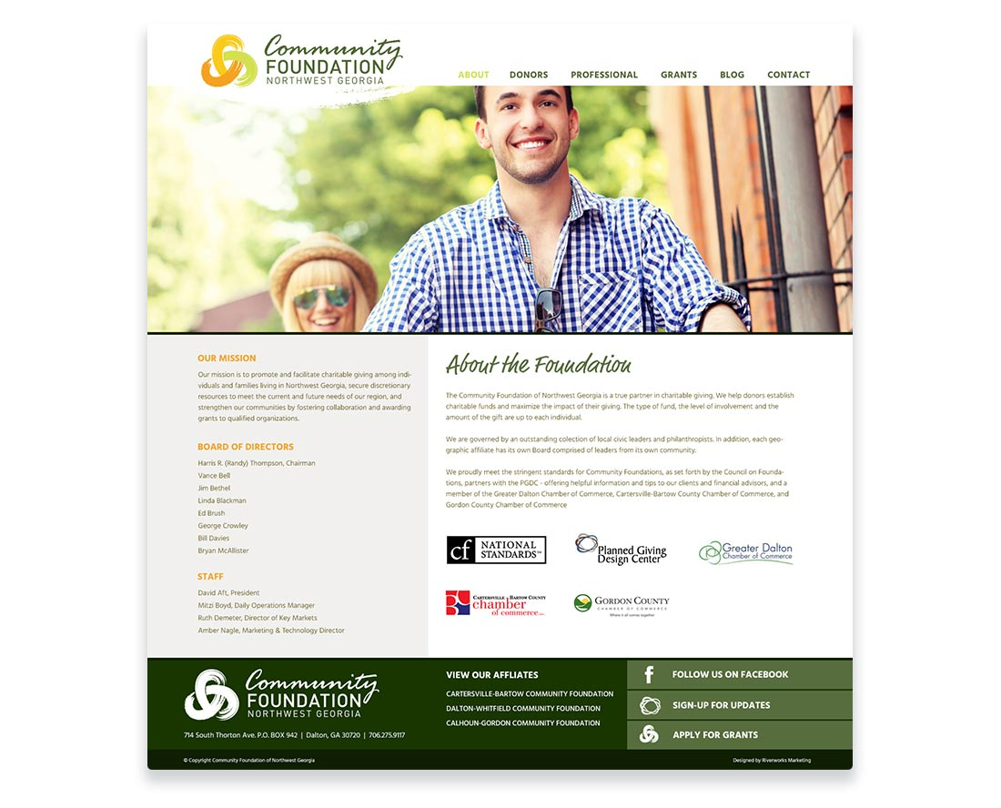 Community Foundation Web Design Interior