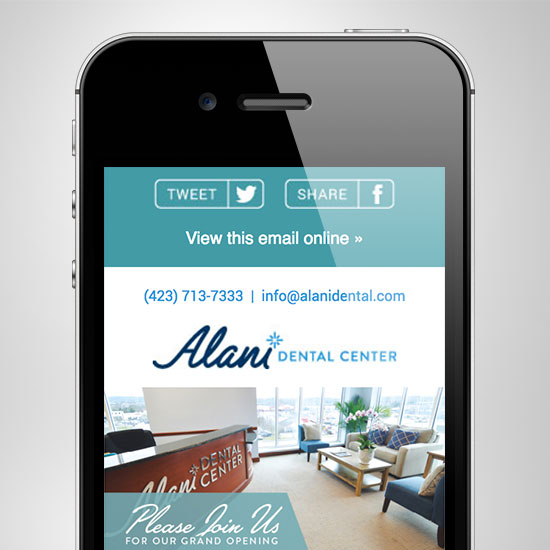 Alani eNewsletter Design
