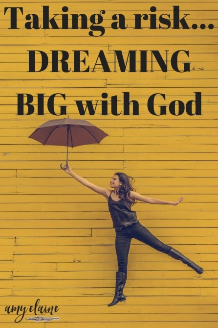 Taking the Risk to Live Out Your Dreams - Dreaming BIG with God! #dreaming #risks #butGod #hope