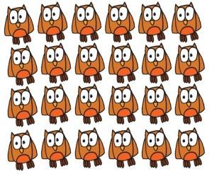 Repeat owl illustration