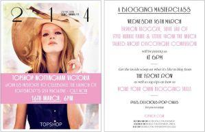 Topshop blogging masterclass