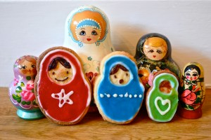 Russian doll biscuits