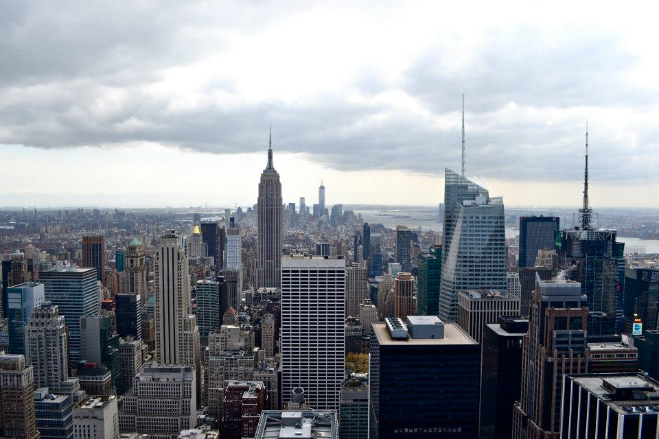 Top of the rock view, New York