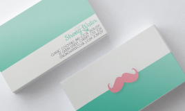 SW Hipster Business Card Mockup