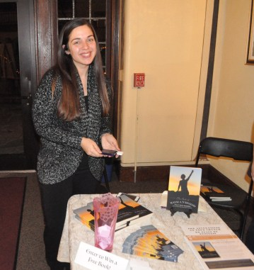 Christina helped make the The Book  of Womanhood available to the guests. . .