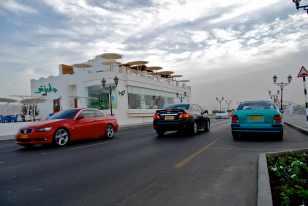 Along the Qurum beachfront