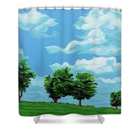 Tree Amigos Shower Curtain from Fine Art America