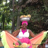 Palenqueras and Fresh Fruits in Cartagena