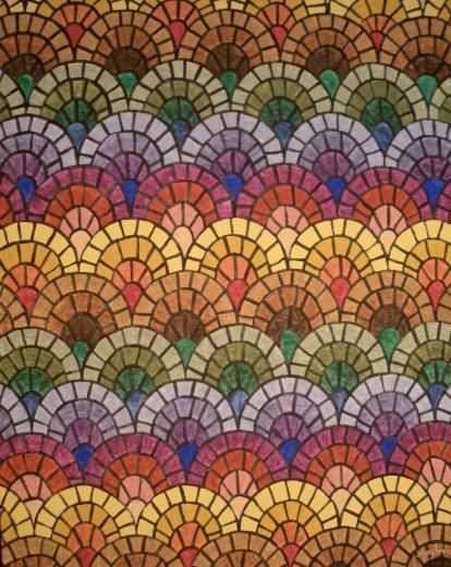 """Mosaic #1"" 22 x 28 acrylic on canvas board, Unavailable"