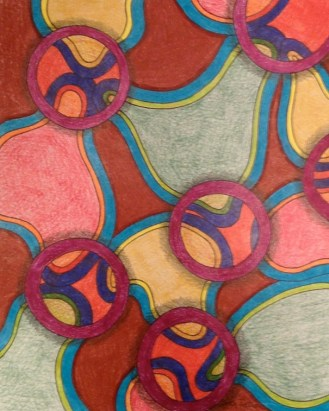 Porosity, 8x10 colored pencil and ink, 2013, SOLD