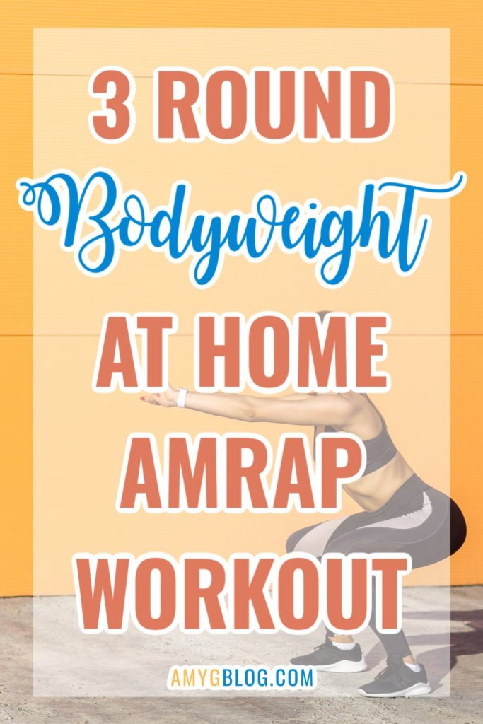 3 rounds, 7 minutes each. 21 minute bodyweight workout that will leave you breathing hard! #amrapworkout #athomeamrap #athomefitness #homeworkouts #bodyweightworkout #bodyweightamrap