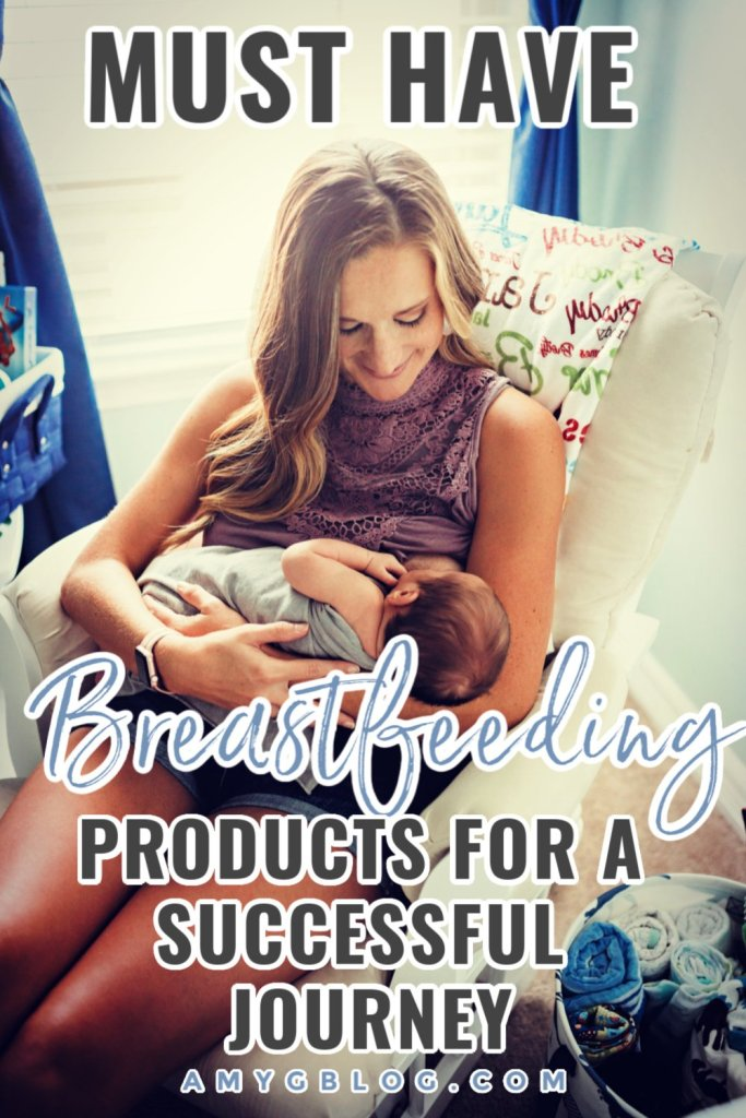 These are my must have breastfeeding products that helped me successfully breastfeeding my two children for over a year! #breastfeedingproducts #breastfeedingmusthaves #breastfeedingtips
