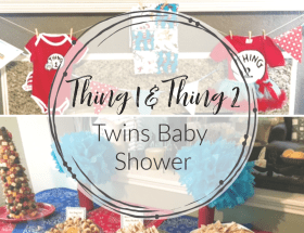All the fun and details for a Thing 1 & Thing 2 Dr. Seuss Twin Baby Shower.