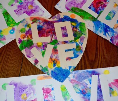 LOVE Toddler Art Project