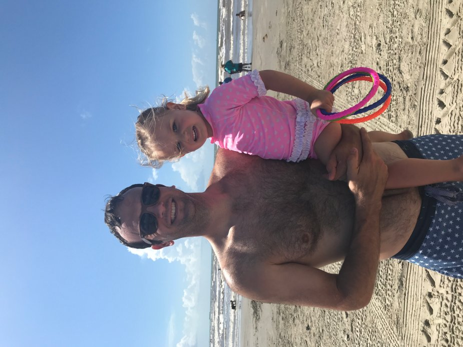What to do with a toddler at the beach.