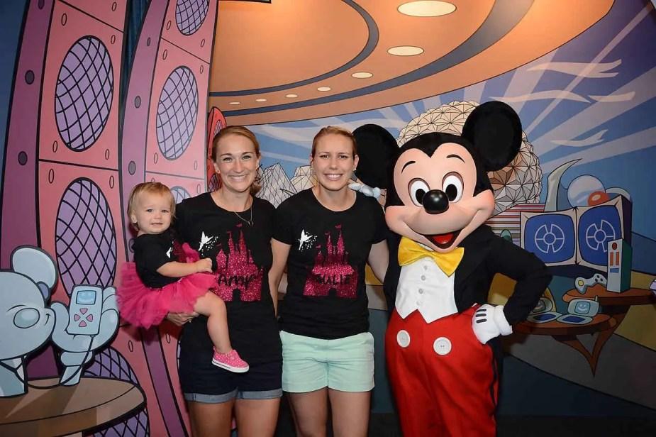 Meeting Mickey Mouse at Epcot - Walt Disney World!