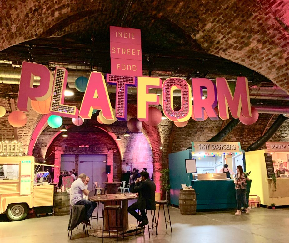 Check out Platform Street Food Market in Glasgow for some delicious food and refreshing drinks. To make it even better, it's family friendly with a kids play area!
