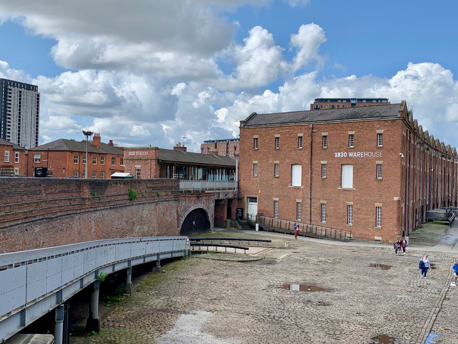 1830's Railway Warehouse in Manchester, United Kingdom's Castlegate neighborhood.
