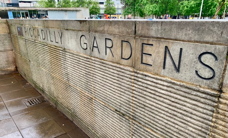 Piccadilly Gardens in Manchester.
