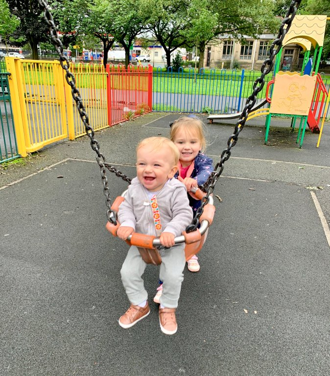 Playing at Ardwick Green Park in Manchester, England.