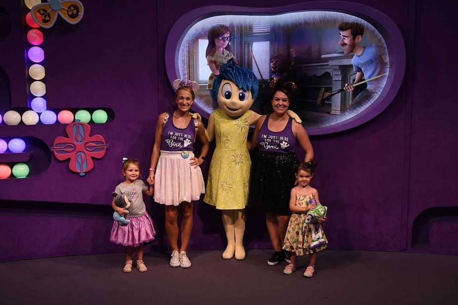 Meeting Joy from Inside Out at Disney's Epcot