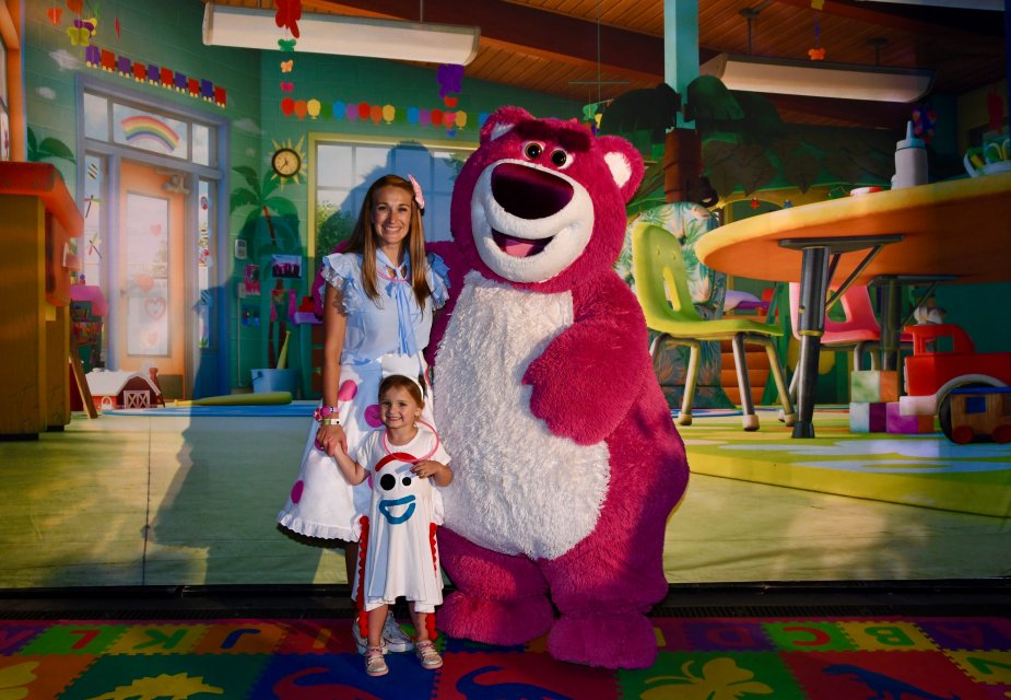 You can meet Lotso at the MNSSHP at Magic Kingdom! He's my daughter's favorite!