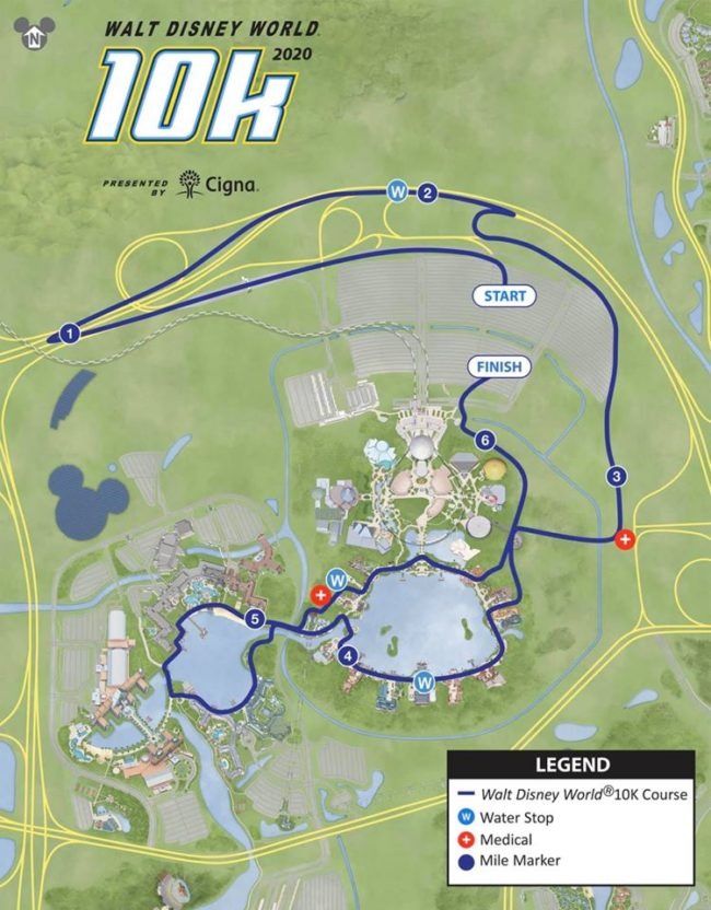 runDisney marathon weekend 10K race course