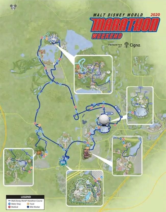 2020 Walt Disney World marathon course.